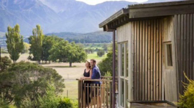 Hapuku Lodge + Tree Houses di Selandia Baru. (Tourism New Zealand)