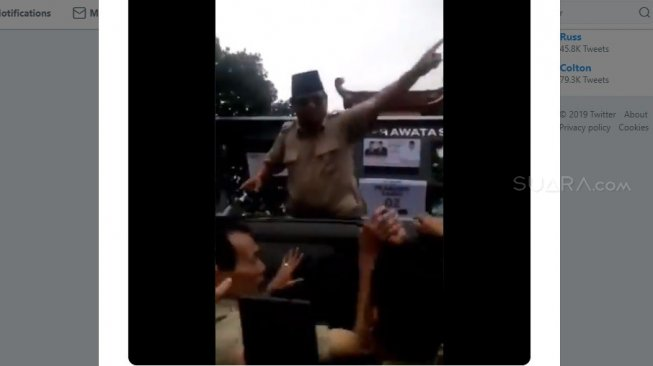 Capture video Calon Presiden Prabowo Subianto (Twitter)