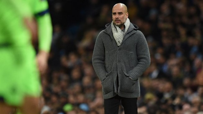 Manajer Manchester City, Pep Guardiola. [Oli SCARFF / AFP]