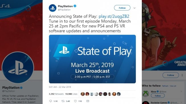 Sony PlayStation State of Play. [Twitter]