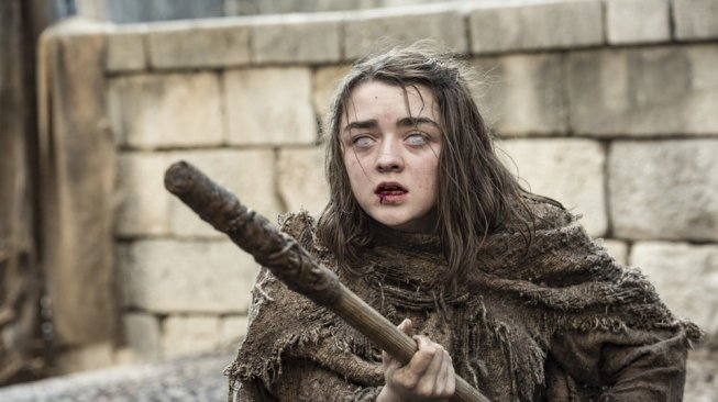 Maisie William perankan tokoh Arya Stark. [HBO]