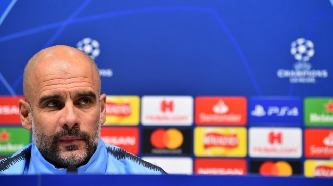 Manajer Manchester City, Pep Guardiola. [Glyn KIRK / AFP]