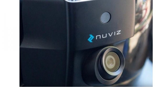 Nuviz Motorcycle HUD [YouTube NUVIZ].