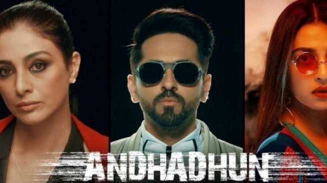 Poster film Andhadhun. [Viacom 18 Motion Pictures]