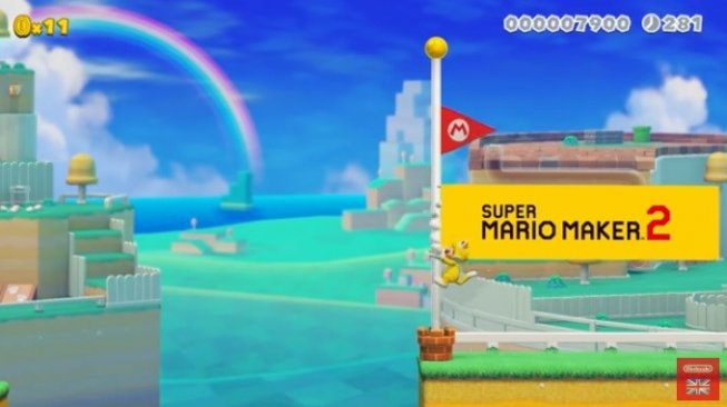 Super Mario Maker 2. [YouTube/@Nintendo UK]