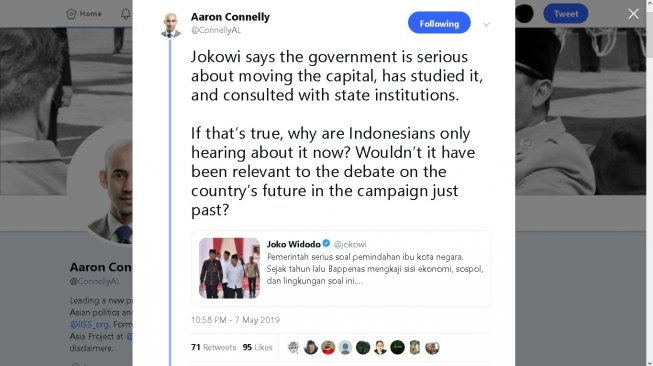 Cuitan Aaron Connelly - (Twitter/@ConnellyAL)