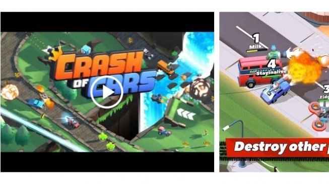 Crash of Cars. [Google Play Store]