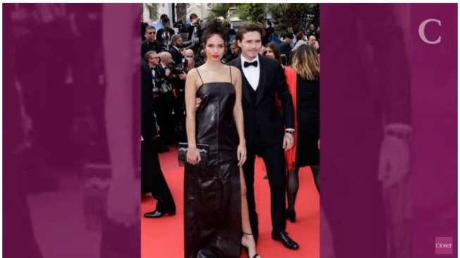 Brooklyn Beckham dan Hana Cross di red carpet Cannes Film Festival. (Youtube/Closer)