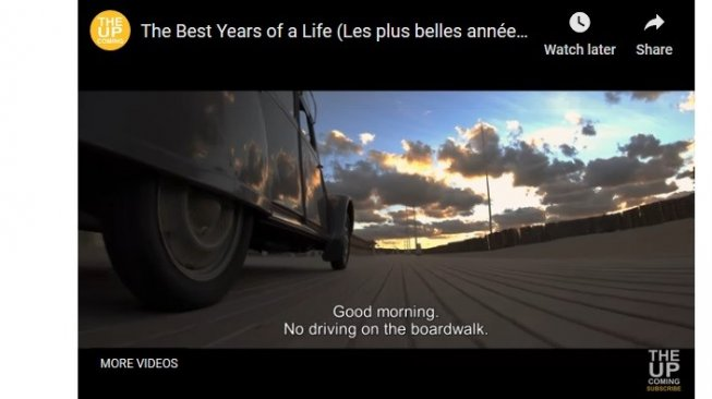 """Fotografi cantik Alpine A110 klasik di film """"The Best Years of a Life"""" [YouTube: The Up]."""