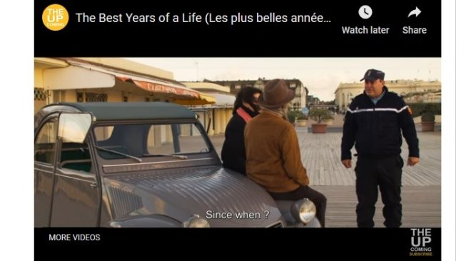 """Alpine A110 klasik di film """"The Best Years of a Life"""" [YouTube: The Up]."""