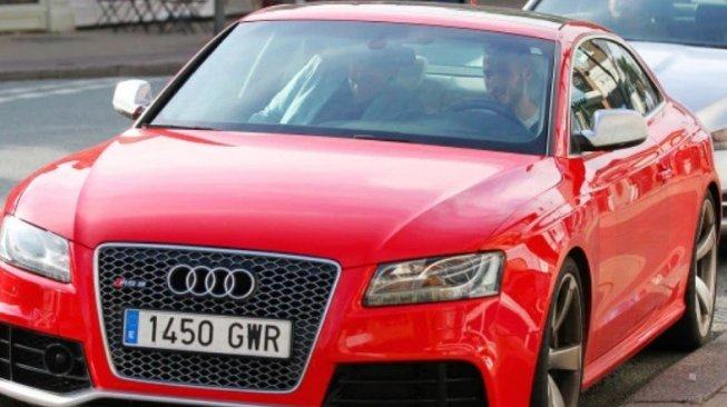 Audi RS5 merah milik David De Gea. (thesun.co.uk)