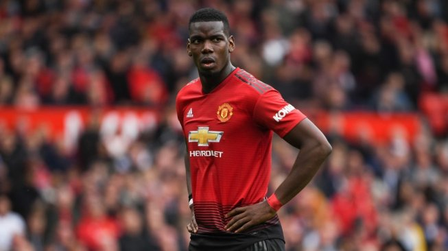 Gelandang Manchester United (MU), Paul Pogba. [AFP/Paul Ellis]