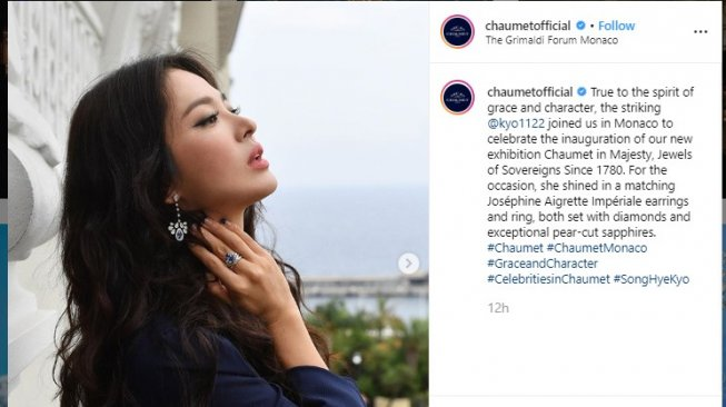 Song Hye Kyo. (Instagram/@chaumetofficial)
