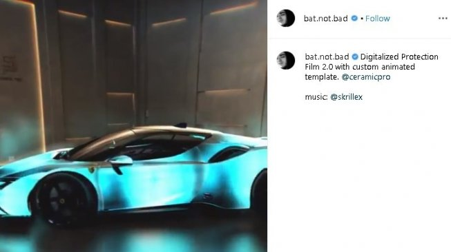 Ferrari SF90 mirip lampu disko. (Instagram/@bad.not.bad)