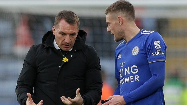 Arsenal Vs Leicester City, Brendan Rodgers: Jamie Vardy Striker Kelas Dunia