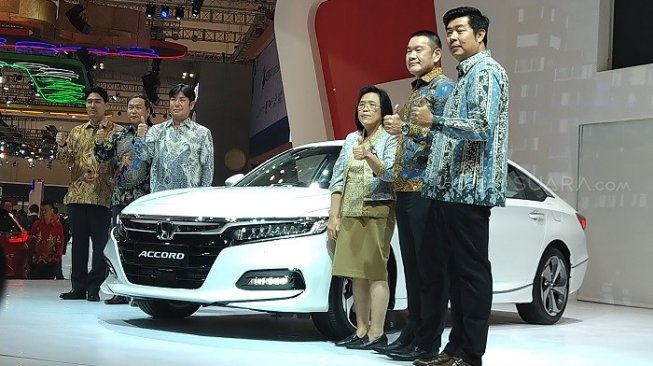 Launching Honda Accord di GIIAS 2019 [Suara.com/Tivan Rahmat].