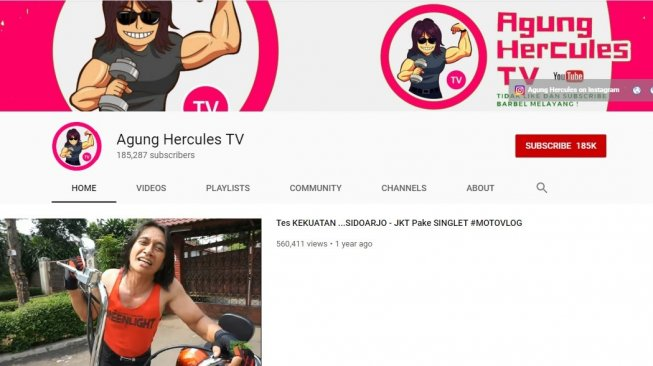 Agung Hercules TV. [YouTube]