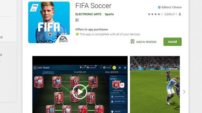 FIFA Games [Google Play].