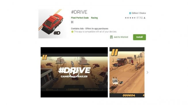 #Drive, game indie seru di Android. [Google Play Store]