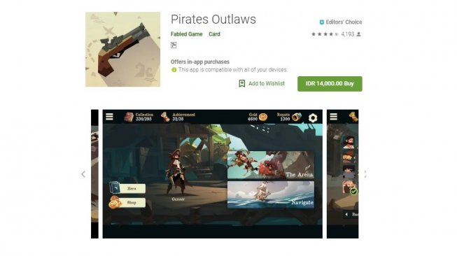 Pirates Outlaws, game indie seru di Android. [Google Play Store]