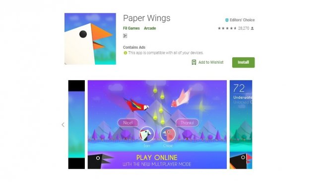 Paper Wings, game indie seru di Android. [Google Play Store]