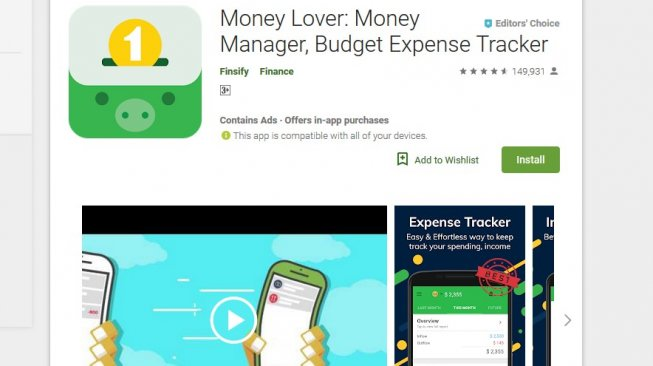 Money lover: Money Manager, Budget expense Tracker [googleplay store].