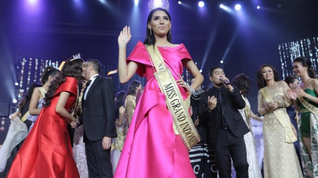 Sarlin Jones, pemenang Miss Grand Indonesia 2019. [istimewa]