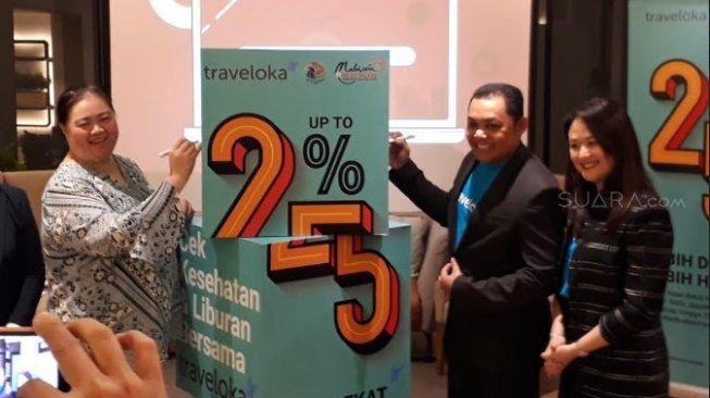 Kerjasama Malaysia Healthcare Travel Council (MHTC) dan Traveloka. (Suara.com/Risna Halidi)