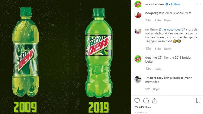 Mountain Dew. (Instagram @MountainDew)