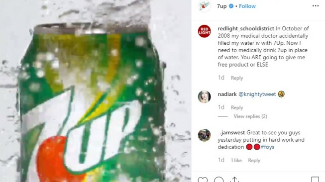 7Up (Instagram @7Up)