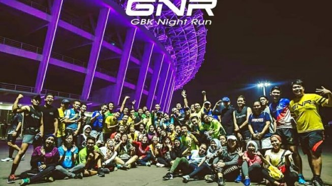 Komunitas GBK Night Run. (Instagram/@GBKNightRun)