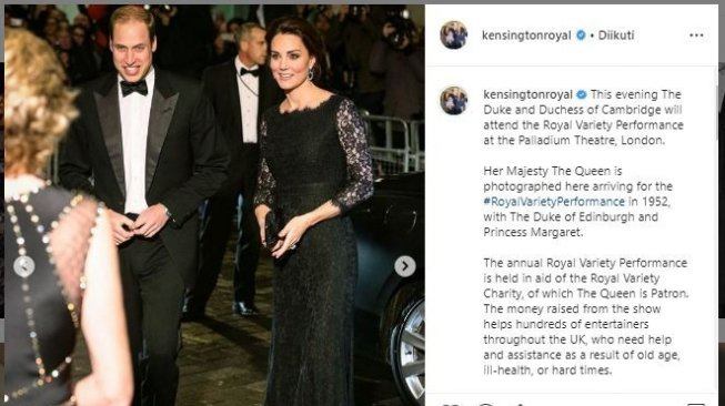Kencan mewah ala Pangeran William dan kate Middleton. (Instagram/kensingtonroyal)