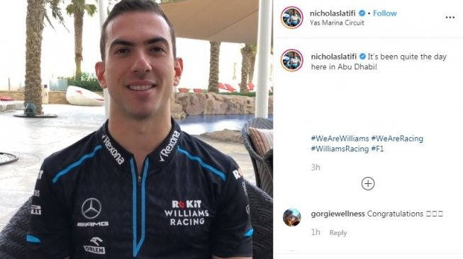 Williams Promosikan Nicholas Latifi