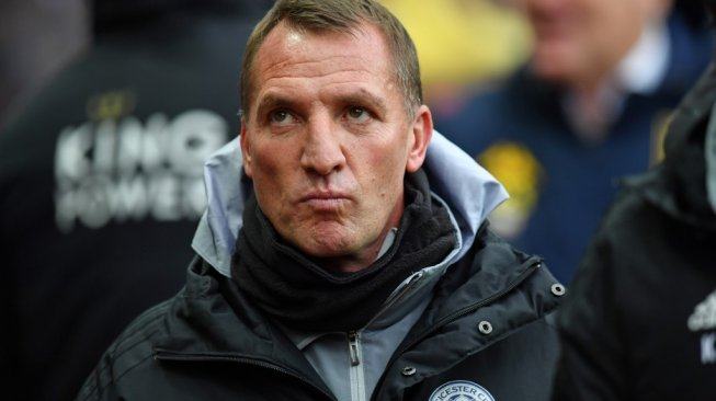 Manajer Leicester City, Brendan Rodgers. [Paul Ellis / AFP]