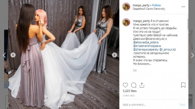 Robot seks jadi calon pengantin. (Instagram/@margo_party)