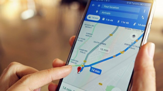 Google Maps di ponsel Android. [Shutterstock]