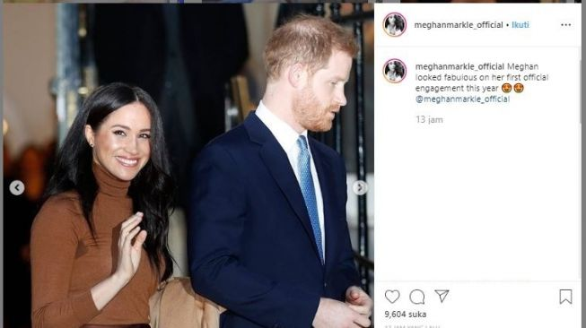 Meghan Markle dan Pangeran Harry. (Instagram/@meghanmarkle_official)