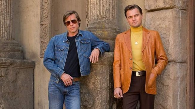 Brad Pitt dan Leonardo DiCaprio di film Once Upon a Time... in Hollywood (dok. Sony Pictures)