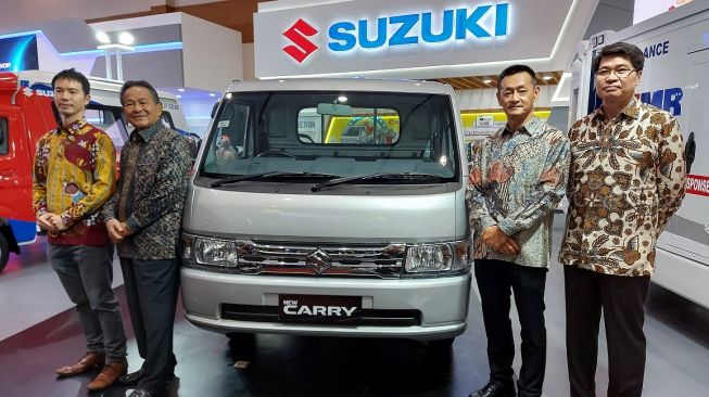 Acara launching New Suzuki Carry Luxury di ajang GIICOMVEC 2020 [Suara.com/Manuel Jeghesta Mainggolan].