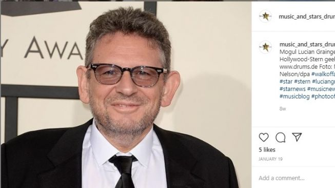 Lucian Grainge, CEO of Universal Music infected corona Covid-19 (Instagram/@music_and_stars_drums.de)