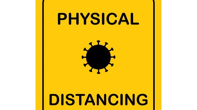 Ilustrasi Physical Distancing. [Shutterstock]