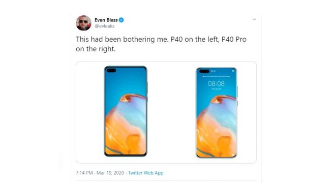 The Leaked Huawei P40-Series. [Twitter]