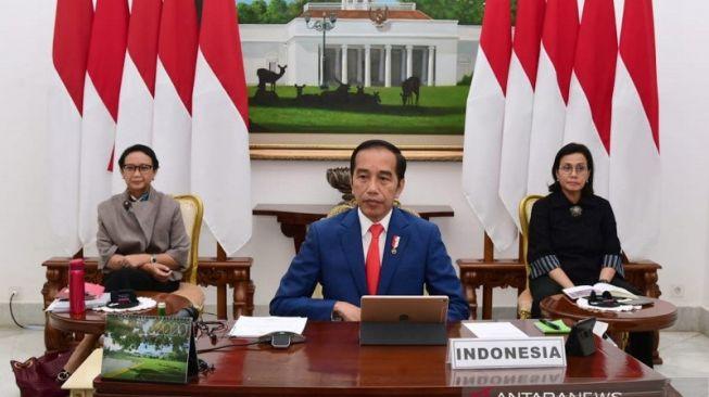 Di KTT G20, Jokowi Tekankan Pentingnya Sinergitas untuk Tangani Corona