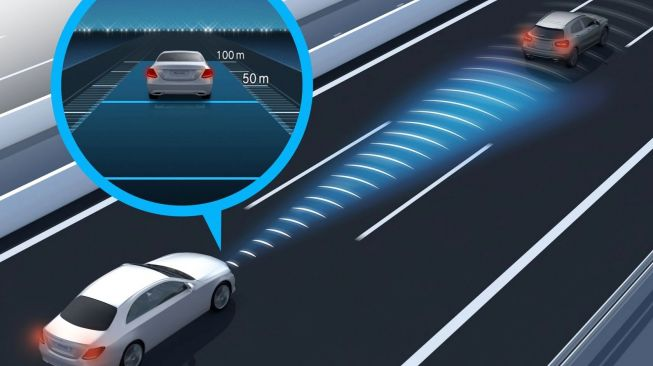 Fitur Active Distance Assist pada Mercedes-Benz.[mercedes-benz.co.th]