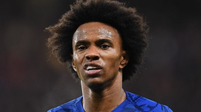 Winger Chelsea, Willian. [DANIEL LEAL-OLIVAS / AFP]
