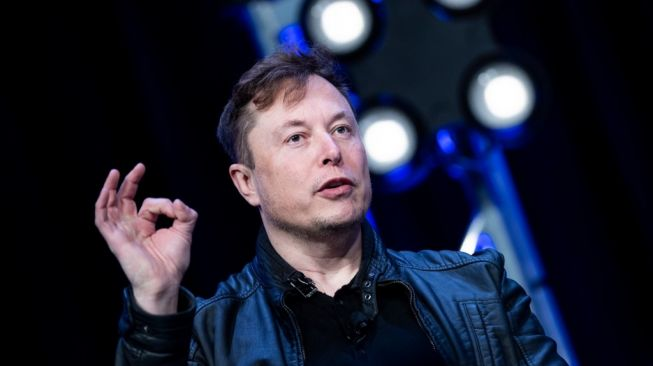 Elon Musk, CEO Tesla Incorporation dan pendiri SpaceX, saat berbicara dalam acara Satelit 2020 di Washington Convention Center (9/3/2020), Washington, D.C. Amerika Serikat. [AFP/Brendan Smialowski].