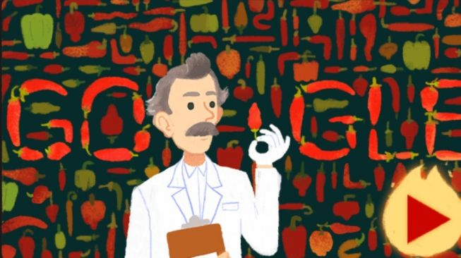 Google Doodle Stay at Home and playing Scoville. [Screenshot]
