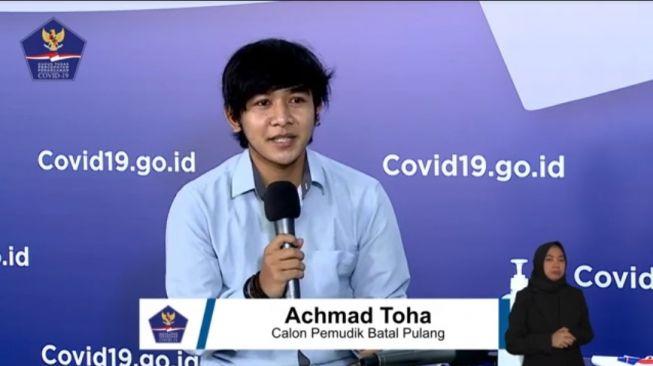 Cerita Achmad Toha yang Gagal Mudik. (YouTube BNPB Indonesia)