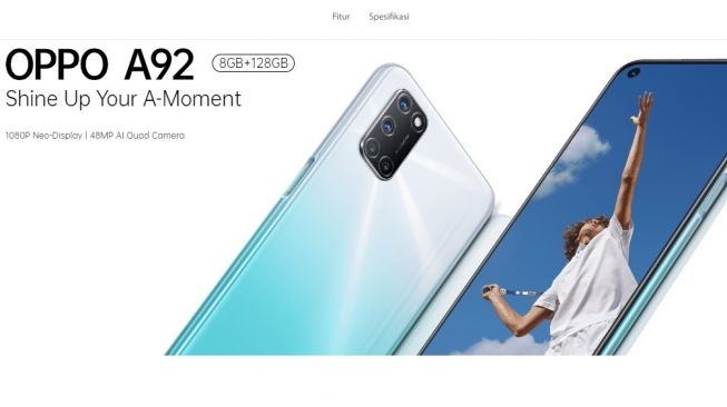 Oppo A92. [Oppo Indonesia]