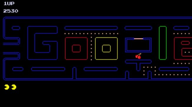 Google Doodle Stay at Home Pacman. [Screenshot]
